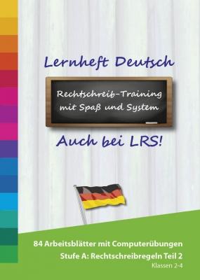 Lernheft Deutsch Rechtschreibung mit Lernsoftware: Grundschule Stufe A - Rechtschreibregeln 2