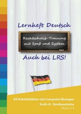 Lernheft und PC Lernprogramm Deutsch Stufe A - Sinnbausteine