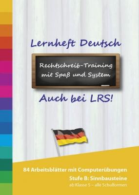 Lernheft und PC Lernprogramm Deutsch Stufe B - Sinnbausteine